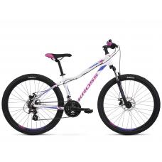"""KROSS MTB WOMAN Női hegyi kerékpár LEA 3.0 13"""" XXS - fényes fehér / lila"""