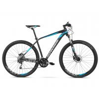 """KROSS MTB XC Hegyi kerékpár Level 4.0 21"""" L 2020 - matt fekete / kék / ezüst"""