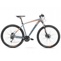 """KROSS MTB XC Hegyi kerékpár Level 4.0 23"""" XL 2020 - fényes szürke / narancssárga"""