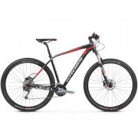 """KROSS MTB XC Hegyi kerékpár Level 5.0 17"""" S 2020 - fényes fekete / piros / ezüst"""