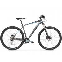"""KROSS MTB XC Hegyi kerékpár Level 5.0 19"""" M 2020 - matt grafit szürke / acélkék / fekete"""