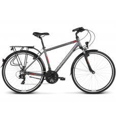 """KROSS Trekking Férfi kerékpár Trans 1.0 17"""" S 2020 - matt grafit szürke / piros / fehér Előnézet"""