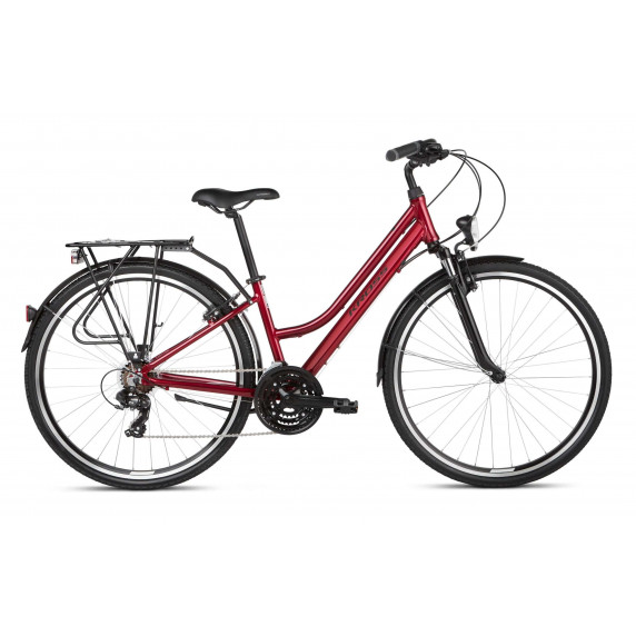 "KROSS Trekking Női kerékpár Trans 1.0 SR 19"" M 2020 - piros/fekete"