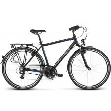 """KROSS Trekking Férfi kerékpár Trans 2.0 17"""" S 2020 - matt fekete / kék / ezüst Előnézet"""
