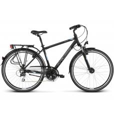 """KROSS Trekking Férfi kerékpár Trans 3.0 17"""" S 2020 - matt fekete / ezüst Előnézet"""