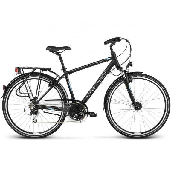 "KROSS Trekking Férfi kerékpár Trans 3.0 17"" S 2020 - matt fekete / ezüst"