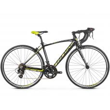 """KROSS JUNIOR Gyerek kerékpár Vento Jr 2.0 16"""" 2020 - fényes fekete / lime / grafit szürke Előnézet"""