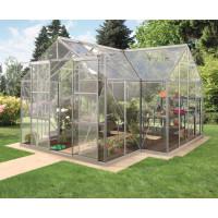 VITAVIA SIRIUS üvegház átlátszó üveggel 3 mm - Ezüst