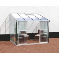 VITAVIA IDA üvegház 5200 matt üveg 4 mm + PC 6 mm - Ezüst Előnézet