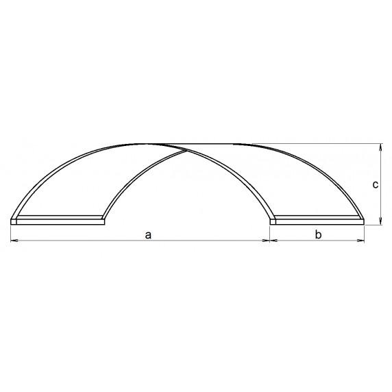 LANITPLAST bejárati tető ARCUS 160/90 - Fehér