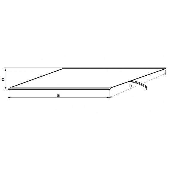 LANITPLAST bejárati tető MELES 160/85 - Antracit