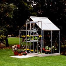 LanitGarden üvegház átlátszó üveggel VITAVIA VENUS 2500 3 mm - Ezüst Előnézet