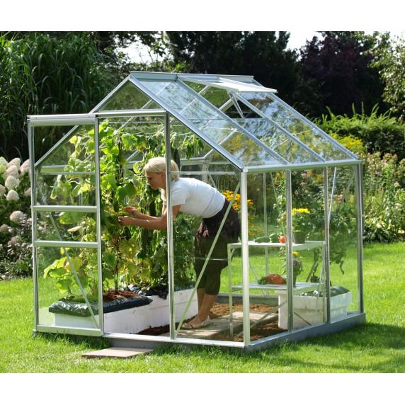 LanitGarden üvegház átlátszó üveggel VITAVIA VENUS 5000 3 mm - Ezüst