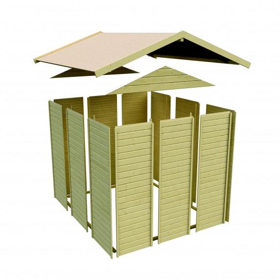 Fa kerti tároló ház KARIBU DALIN 1 (144438) SET