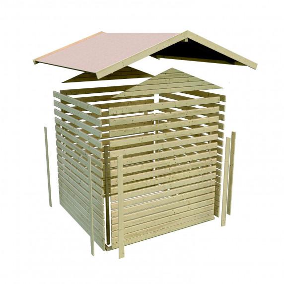 Fa kerti tároló ház KARIBU AMBERG 4 (14440) SET