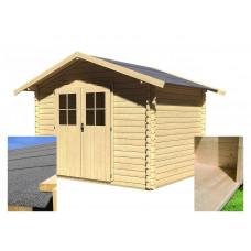 Fa kerti tároló ház KARIBU SEEFELD 5 (83136) SET Előnézet