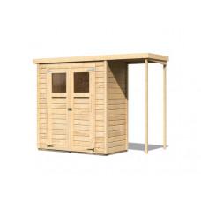 Fa kerti tároló ház KARIBU DEVIN (23486) natur Előnézet