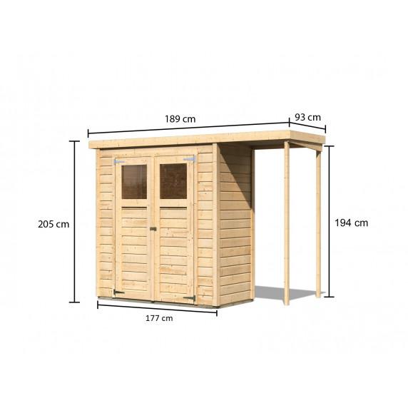Fa kerti tároló ház KARIBU DEVIN (23486) natur