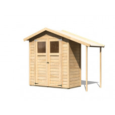Fa kerti tároló ház KARIBU DANA (23485) natur Előnézet