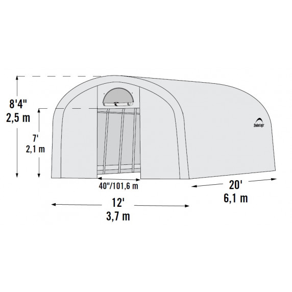 Fóliasátor 3,7 x 6,1 m - 41 mm - 70592EU SHELTERLOGIC