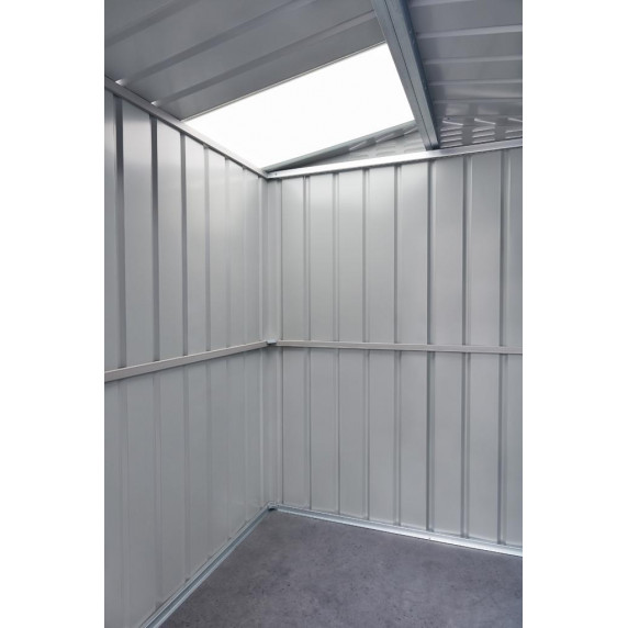Kerti tároló ház tetőablakkal GLOBEL 65 - Ezüst
