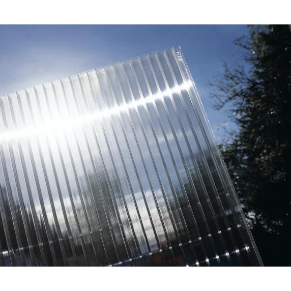 Alumínium pergola WALL 53 fehér + átlátszó PC LANITPLAST