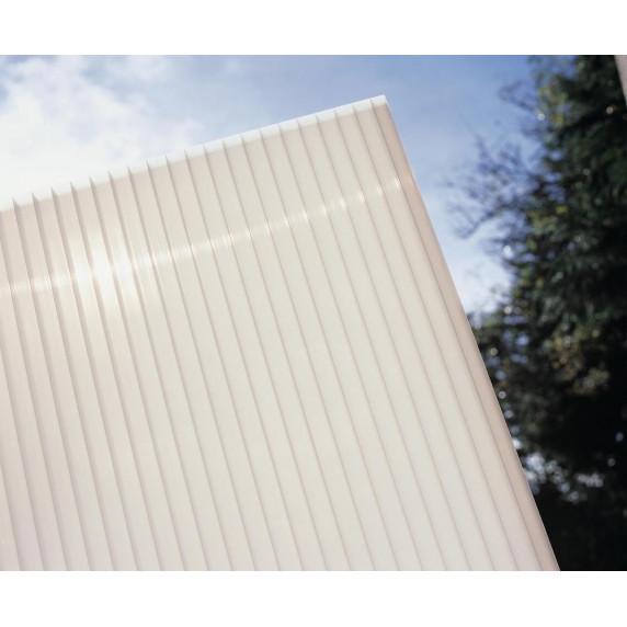 Alumínium terasztető WALL 43 fehér + opál PC LANITPLAST