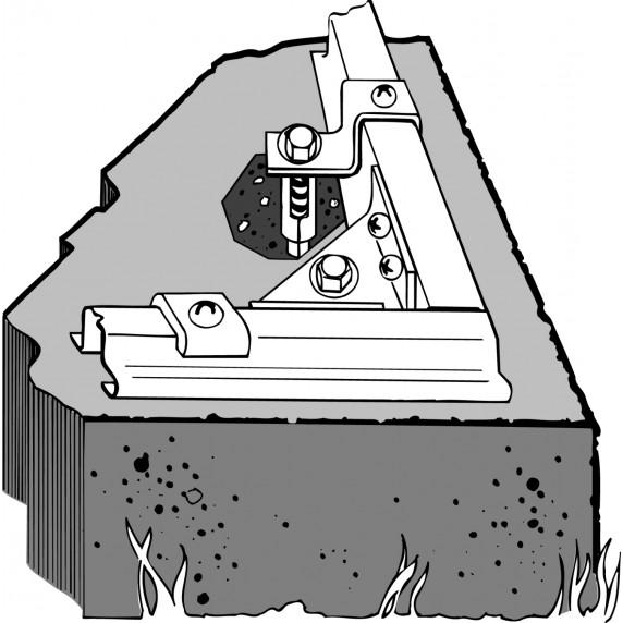 ARROW sarok horgonyzó készlet betonba