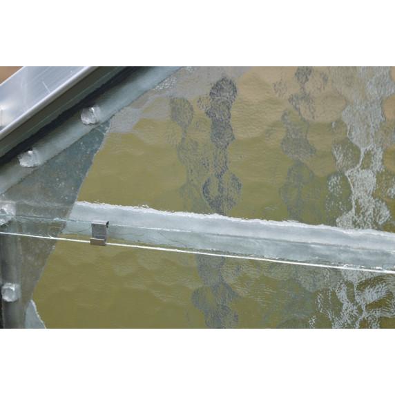VITAVIA URANUS üvegház 9900 matt üveg 4 mm - Ezüst