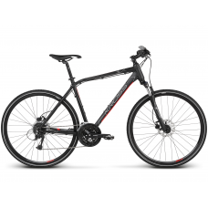 """KROSS Cross Férfi kerékpár Evado 5.0 17"""" 2020 - matt fekete / piros Előnézet"""