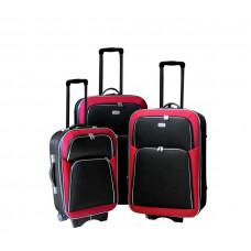 Linder Exclusiv EVA 2 bőröndök MC3055 S,M,L - Piros/fekete Előnézet