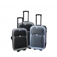 Linder Exclusiv EVA 2 bőröndök MC3055 S,M,L - Grafit szürke/fekete Előnézet