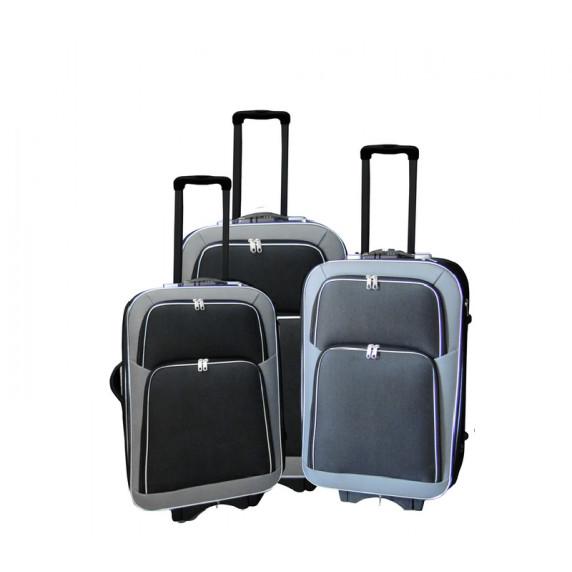 Linder Exclusiv EVA 2 bőröndök MC3055 S,M,L - Szürke/fekete