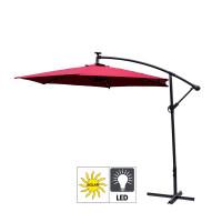Aga EXCLUSIV 300 cm LED függő napernyő - Sötét piros