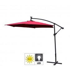 Aga EXCLUSIV 300 cm LED Dark Red függő napernyő Előnézet