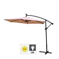Aga EXCLUSIV 300 cm LED függő napernyő - Bézs