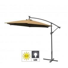 Aga EXCLUSIV 300 cm LED függő napernyő - Kávébarna Előnézet