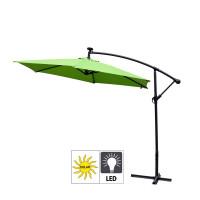 Aga EXCLUSIV 300 cm LED függő napernyő - Világos zöld
