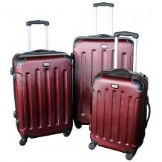 Linder Exclusiv LUXURY MC3002 Bőrönd szett S,M,L - burgundy Előnézet