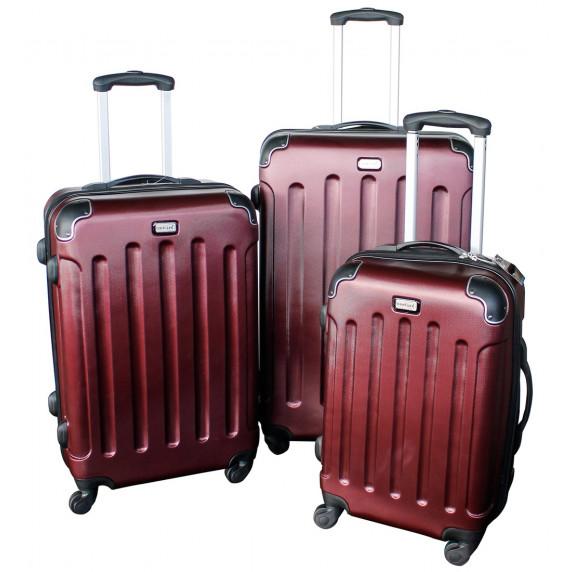 Linder Exclusiv LUXURY MC3002 Bőrönd szett S,M,L - burgundy