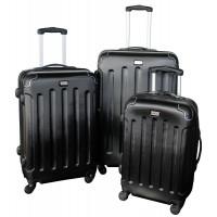 Linder Exclusiv LUXURY MC3003 Bőrönd szett S,M,L - fekete