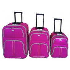 Linder Exclusiv COMFORT COLORS bőröndök MC3049 S,M,L - Pink Előnézet