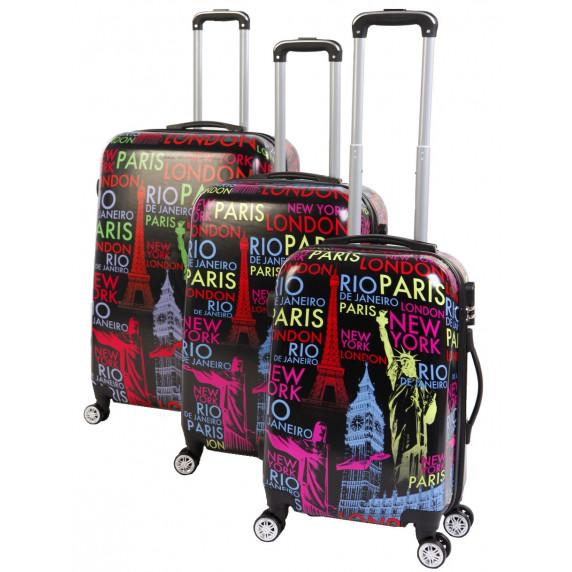 Linder Exclusiv CITY ALUMINUM bőröndök MC3068 S,M,L - Fekete