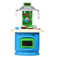 Inlea4Fun DOUBLE Kétoldalas játékkonyha 32 kiegészítővel - kék