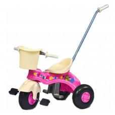 Inlea4Fun Junior tricikli tolókarral - rózsaszín