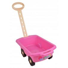 Inlea4Fun Trolley húzható kiskocsi gyerekeknek - rózsaszín Előnézet