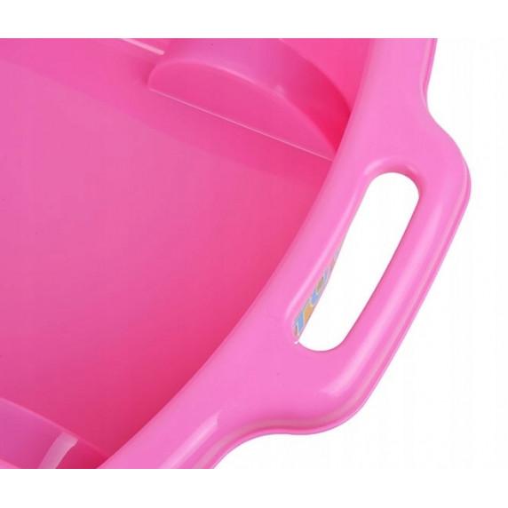 Inlea4Fun Trolley húzható kiskocsi gyerekeknek - rózsaszín