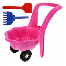 Inlea4Fun Kagylós Játék talicska - rózsaszín Előnézet