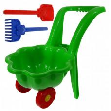 Inlea4Fun Kagylós Játék talicska - zöld Előnézet
