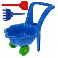 Inlea4Fun Kagylós Játék talicska - kék Előnézet